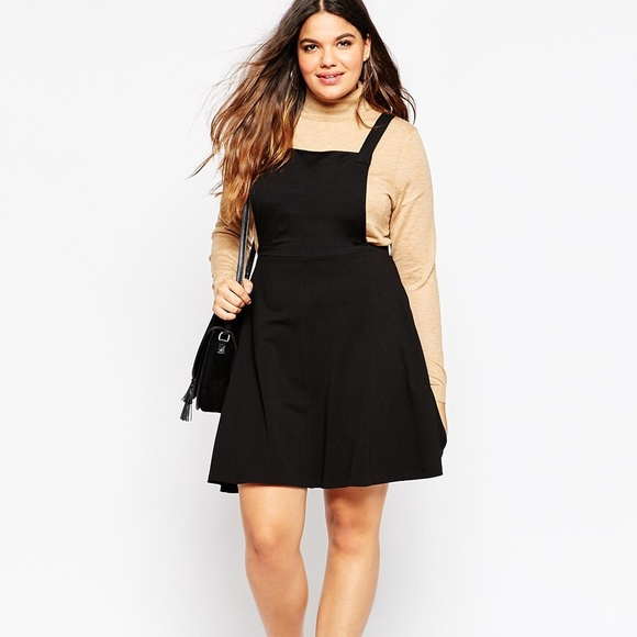 c29be23cc7 ASOS Curve Dresses   Skirts - ASOS Curve Black Pinafore Dress